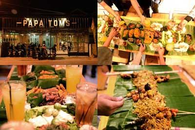 bancakan - papatoms cafe - cafe di bandar lampung