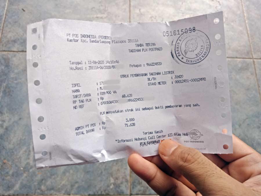 Cara Bayar Listrik di Kantor Pos - yopiefranz.id - Yopie Pangkey - 2